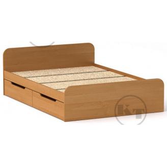 Ліжко з ящиками Віола 140х200 вільха Компаніт