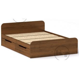 Ліжко з ящиками Віола 140х200 горіх Компаніт