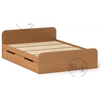 Ліжко з ящиками Віола 140х200 бук Компаніт