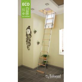 Комбіновані горищні сходи Bukwood ECO Metal Mini 80х60 см