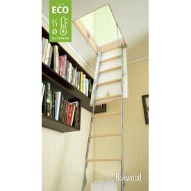 Комбинированная чердачная лестница Bukwood ECO Metal Standard 130х80 см
