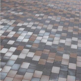 Тротуарна плитка Gartec Цегла без фаски 200х100х60 мм колор мікс