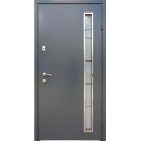 Входные двери Редфорт Металл-МДФ со стеклопакетом
