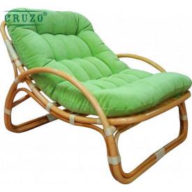 Плетенное лаунж-кресло Cruzo Соло натуральный ротанг медовый kr0024