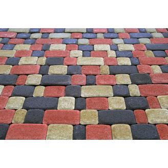 Тротуарна плитка ТМ ЕкоПлітка вибропрессованная Старе Місто 4 см