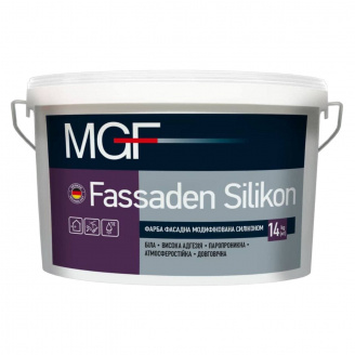 Фарба MGF M790 Fassaden Silikon фасадна модифікується. силіконом 14кг