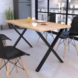 Стол обеденный GoodsMetall в стиле Лофт 1600х750х700мм Артхаус