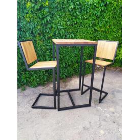 Комплект барний (стіл і стільці) GoodsMetall в стилі Лофт Friends