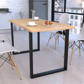 Стол обеденный GoodsMetall в стиле Лофт 1500х750х700мм Гранж