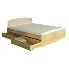 Ліжко двоспальне Асторія 160х200 з 4 ящиками Еверест Дуб сонома + трюфель