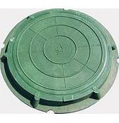 Люк легкий полимерпесчаный зеленый