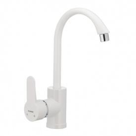 Смеситель для кухни PLAMIX Leon-011 белый (без подводки) (PM0009)