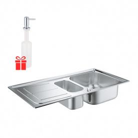 Набор Grohe мойка кухонная K300 31564SD0 + дозатор для моющего средства Contemporary 40536000