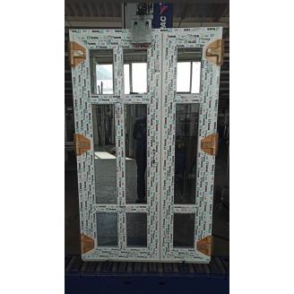 Двері вхідні штульпові з 6-камерного профілю WDS 6 SERIES, 1200х2050 мм