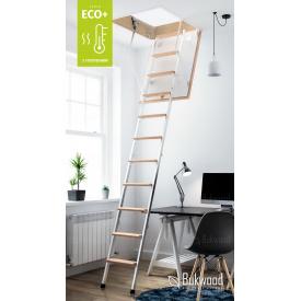 Комбіновані горищні сходи Bukwood ECO+ Metal Mini 80х60 см