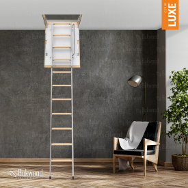 Чердачная лестница Bukwood Luxe Metal Standard 130х90 см