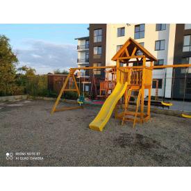 Деревянный детская площадка WOODEN TOWN №02 Д * Ш * В-4,2М * 1,8М * 3,5М