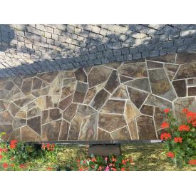 Облицювальна рваний камінь Alex Group Закарпатський андезит 2,5 см шоколад