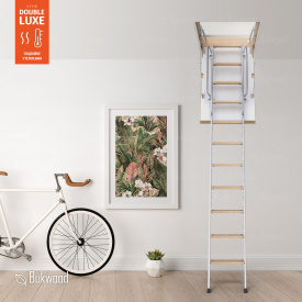 Чердачная лестница Bukwood Double Luxe Metal Standard 110х90 см