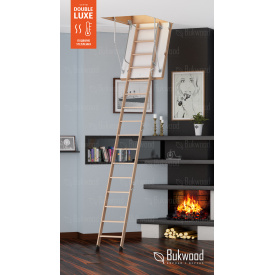 Горищні сходи Bukwood Double Luxe Mini 130х60 см
