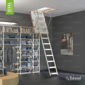 Чердачная лестница Bukwood Steel Step 130х90 см