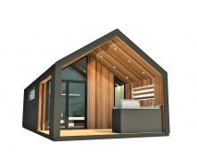 Барнхаус сучасний модульний будинок 3х6 м