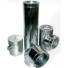Труба дымохода из нержавеющей стали 304 100*0,6 мм