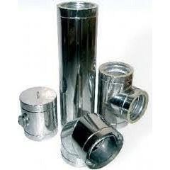 Труба для димоходу з нержавыючої сталі 304 120x0,8 мм