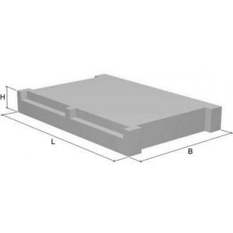 Сходова площадка 2 ЛП 22.12-4к 2200х1200 мм