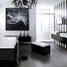 Ванна у чорно-білому кольорі