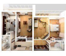 Перепланування двокімнатної квартири