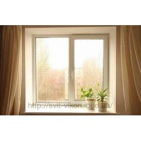 Металлопластиковое окно поворотно-откидное Интерлайн 300 1200x1400 мм