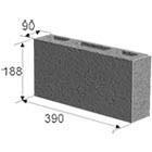 Шлакоблок перегородочный строительный 90*188*390 мм