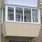 Остекление балкона металлопластиковыми окнами