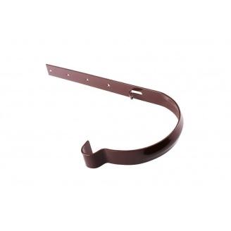 Держатель желоба металлический Profil 90 мм коричневый