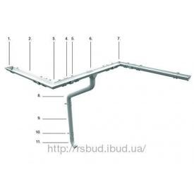 Водосток металлический Ruukki 125/87 мм