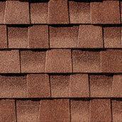 Битумная черепица GAF Timberline 1000х335 мм Sunset Brick