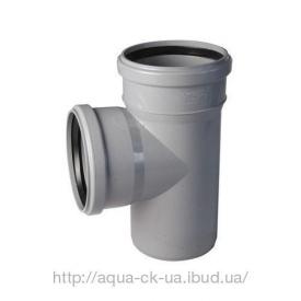 Трійник пластиковий 110 мм 110/90 градусів