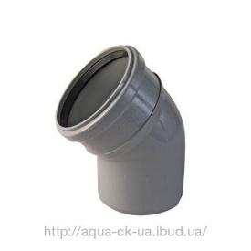 Коліно для каналізаційних труб ПВХ 110 мм 45 градусів
