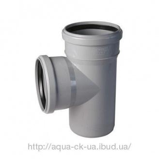Тройник пластиковый 110 мм 110/90 градусов