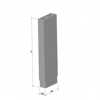 Вентиляционный блок ВБС-28-1 ТМ «Бетон от Ковальской» 630х300х2780 мм
