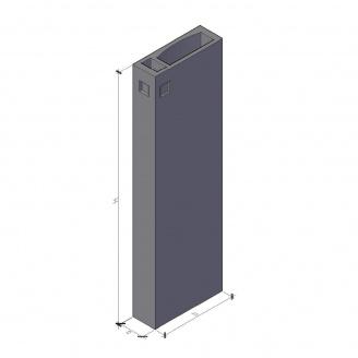 Вентиляційний блок ВБ 4-30-0 ТМ «Бетон від Ковальської» 910х400х2980 мм