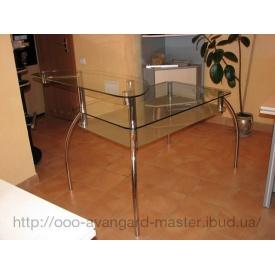 Стол стеклянный прямоугольный