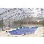 Павільйон для басейну з полікарбонату 16 мм прозорий