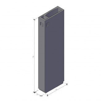 Вентиляційний блок ВБ 3-30-2 910*300*2980 мм