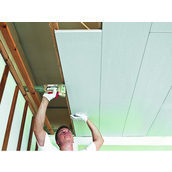 Монтаж стельових панелей Isotex на дерев'яний каркас 12 мм