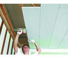 Монтаж потолочных панелей Isotex на деревянный каркас 12 мм