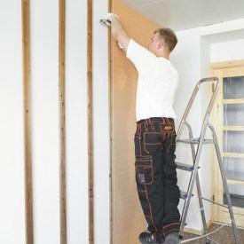 Влаштування інтер'єрного стінового покриття Isotex Timber