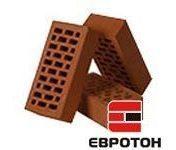 Керамический лицевой кирпич Евротон 250*120*65 мм коричневый брусок