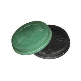 Люк пластмассовый легкий №1 3 т с замком черный (13.06.1)